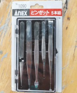 Bộ Nhíp Gắp Không Gỉ 5 Cái Anex No.1090