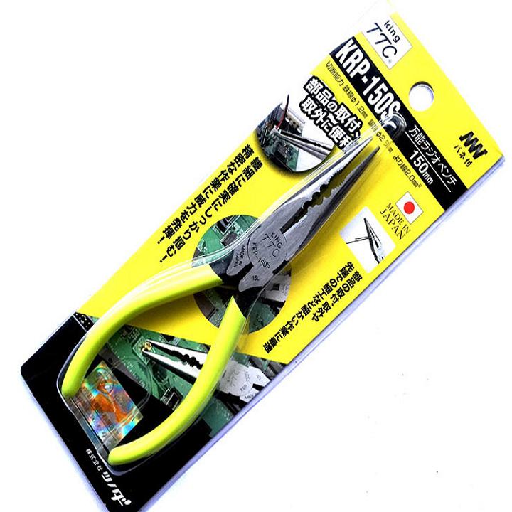 Kìm nhọn đa năng có lò xo 150mm KRP-150S Tsunoda Nhật Bản