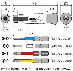 Bộ Tô Vít đa Năng No.3614 Anex Nhật Bản