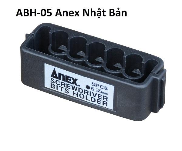 Khay đựng mũi vặn vít 5 lỗ ANEX 6.35mm ABH-05