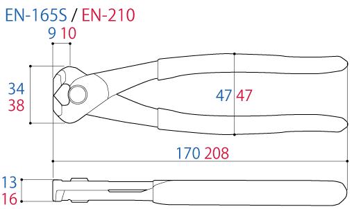 Thông số Kìm cắt mép 8.5 inch Tsunoda EN-210